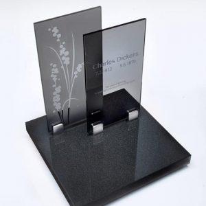 Glasplaten donker en licht met afbeelding