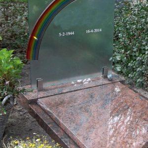 Regenboog op glas